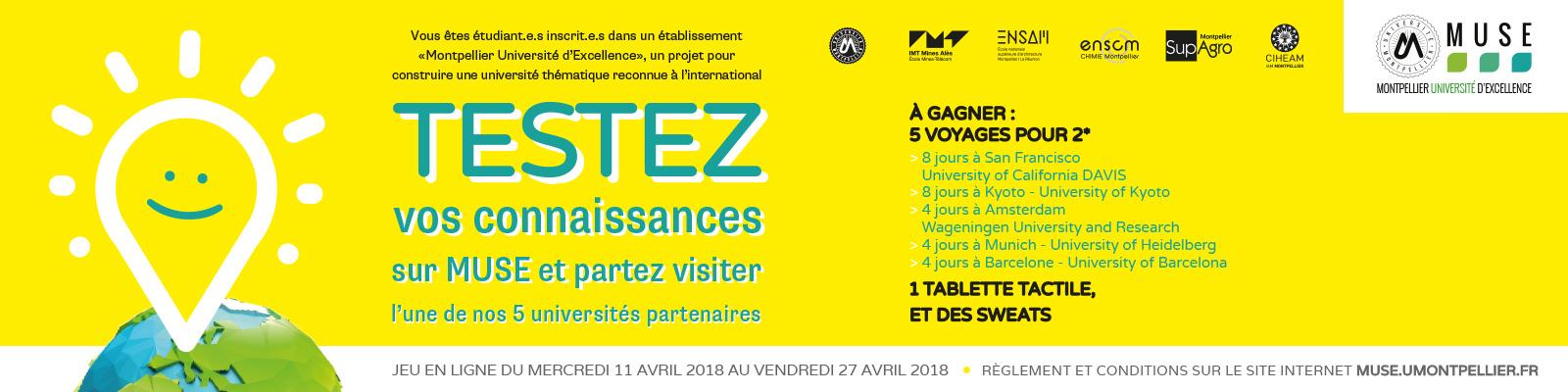 Connect Le Grand Jeu Concours Muse Montpellier Universite D Excellence